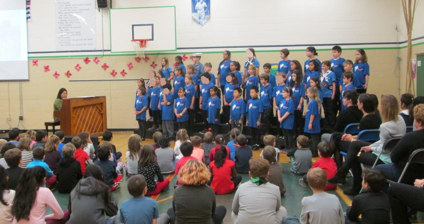 Remembrance Day Choir Performance